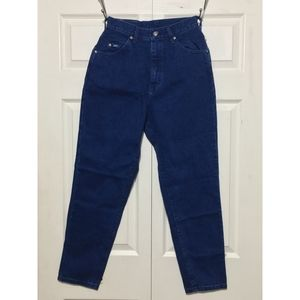 VTG LEE Womens Jeans Relaxed Tapered Leg 8 Petite